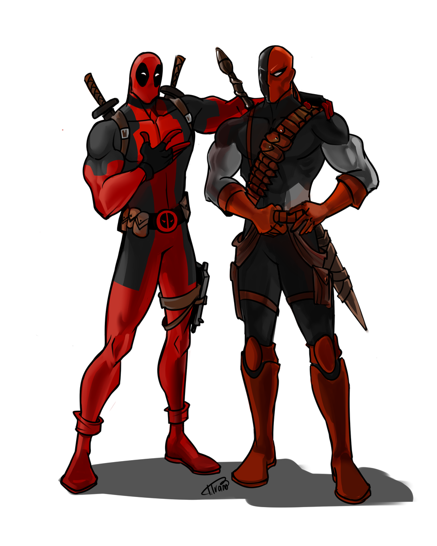 Clipartfest and by . Deathstroke vs deadpool clipart