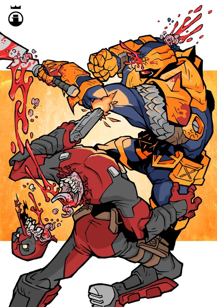 Deathstroke vs deadpool clipart.  ideas about on