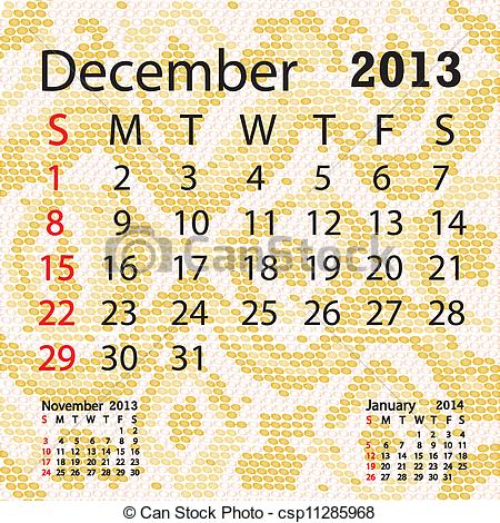 December 2013 calendar clipart royalty free stock Clip Art Vector of december 2013 calendar albino snake skin ... royalty free stock