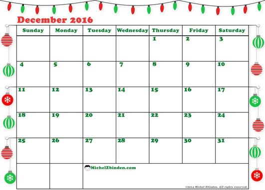 December calendar 2016 clip art free December Calendar 2016 Printable clip art free