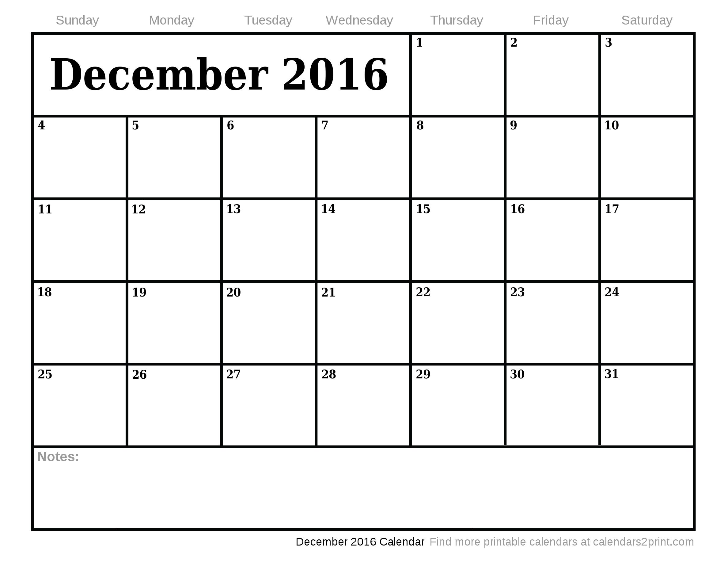 December calendar 2016 library December calendar 2016 - ClipartFest library