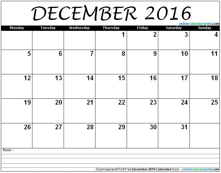 December calendar 2016 clip art freeuse library 2016 December Calendar clip art freeuse library
