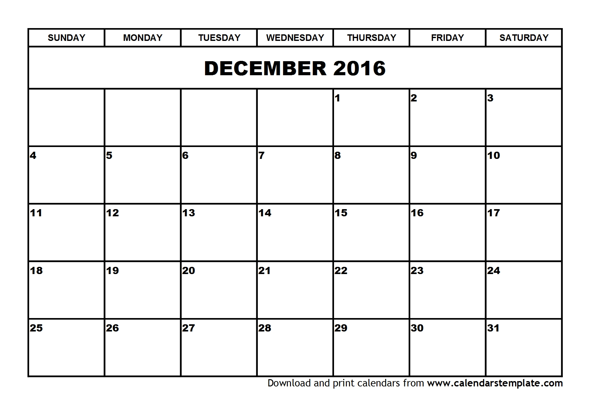 December calendar 2016 png black and white library December calendar 2016 - ClipartFest png black and white library