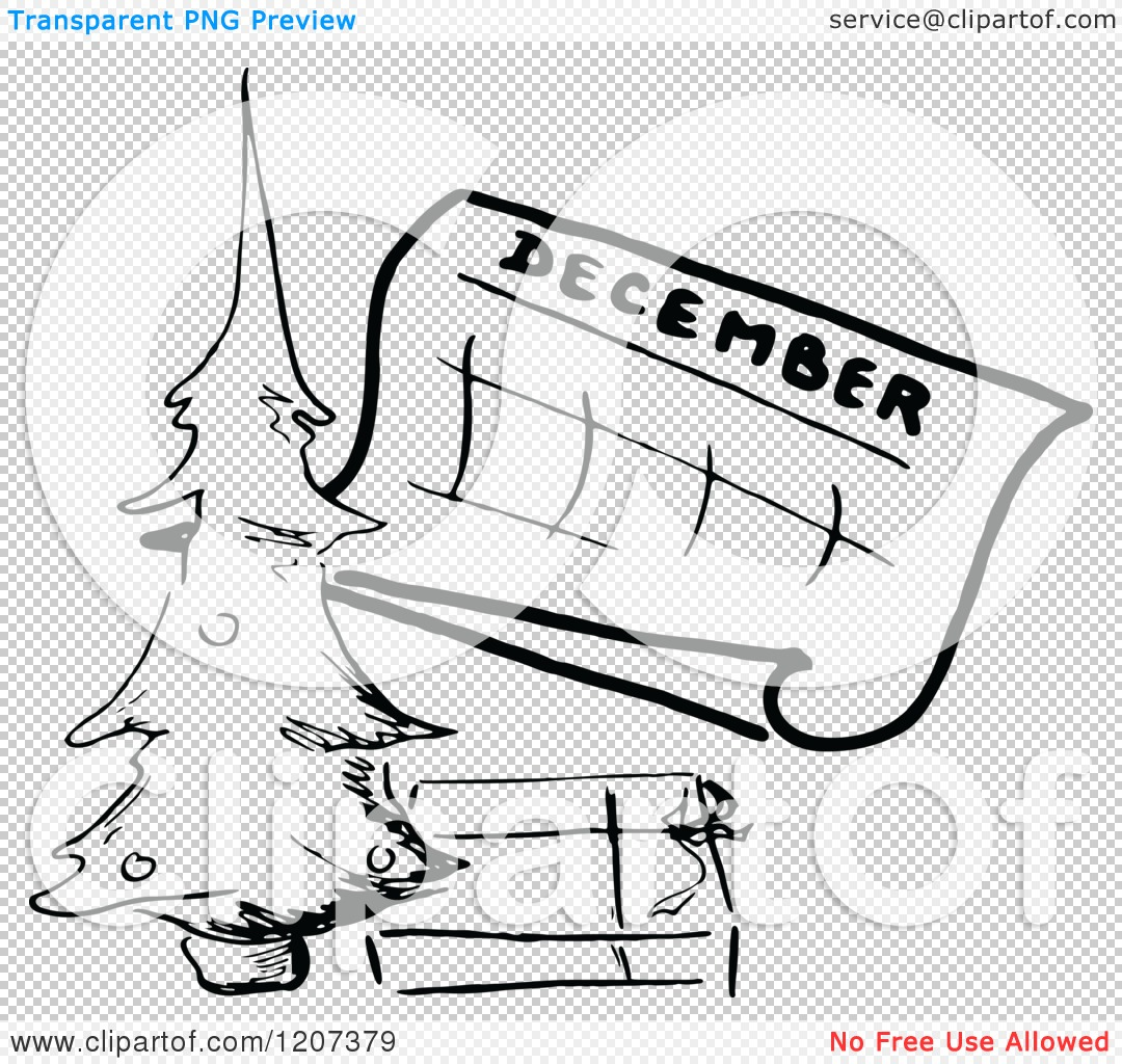 Clipart of a vintage. December calendar clip art