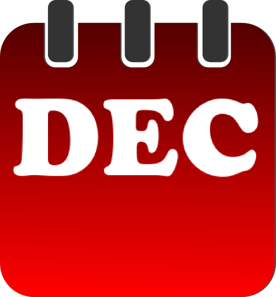 December calendar clipart picture library December date calendar clipart - ClipartFest picture library
