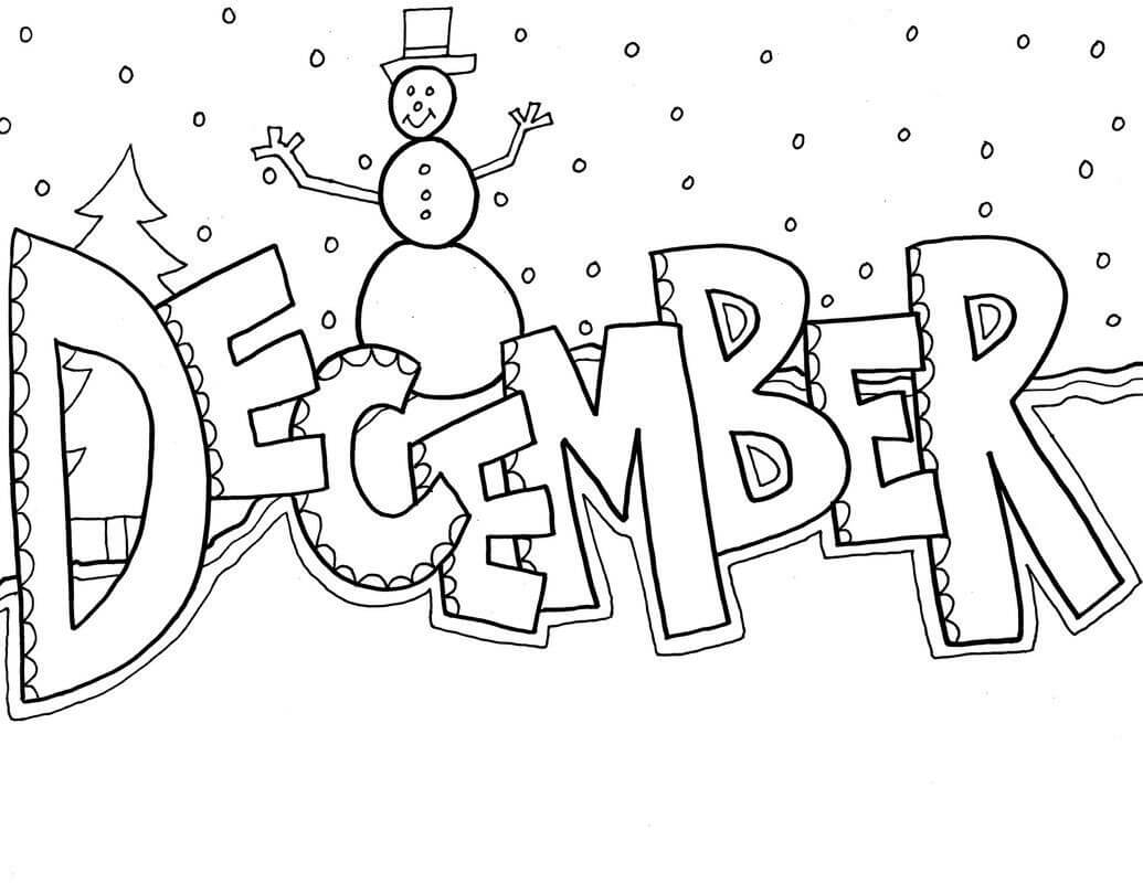 December clipart black and white clipart freeuse library December Clipart - Clipart Junction clipart freeuse library