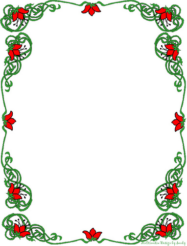 Free printable christmas border clipart.  hac clip art