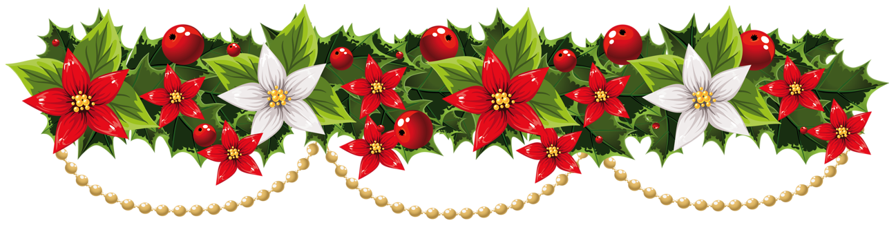 Garlands clipart transparent December clip art borders clipart images gallery for free ... transparent