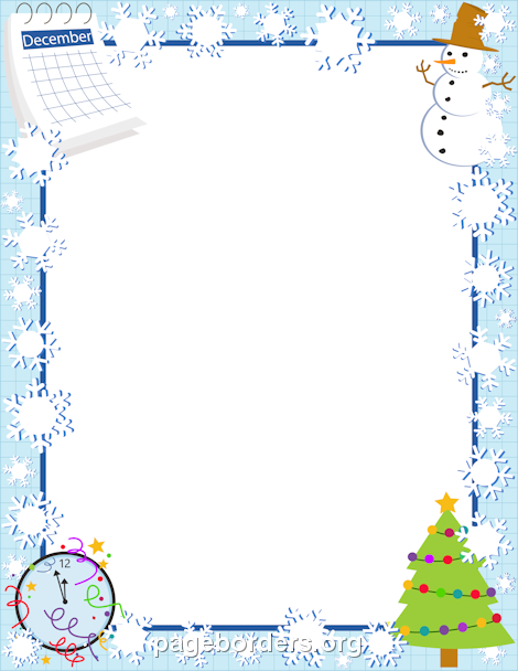 December clipart borders clipart black and white download Pin by Muse Printables on Page Borders and Border Clip Art ... clipart black and white download