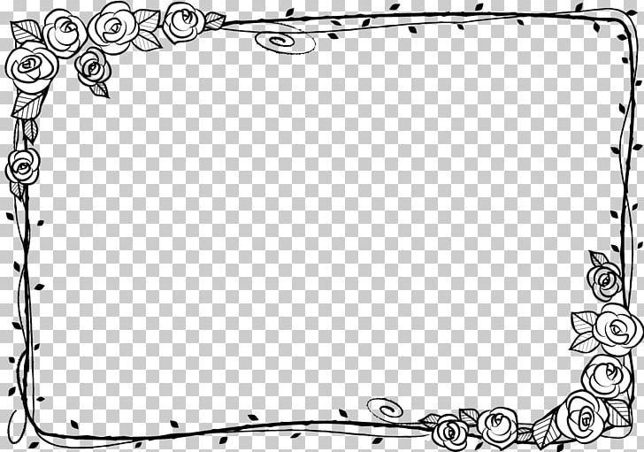 December corner frame clipart black and white vector freeuse stock Black And White Beach Rose Adobe Illustrator PNG, Clipart, Area ... vector freeuse stock