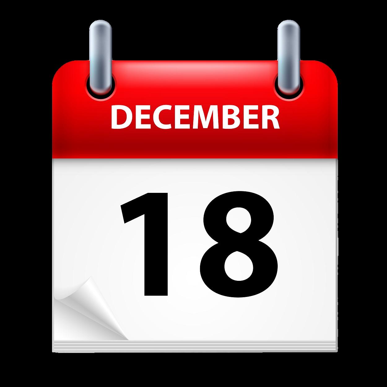 December date calendar clipart picture black and white download Calendar December Stock photography Clip art - dates 1250*1250 ... picture black and white download
