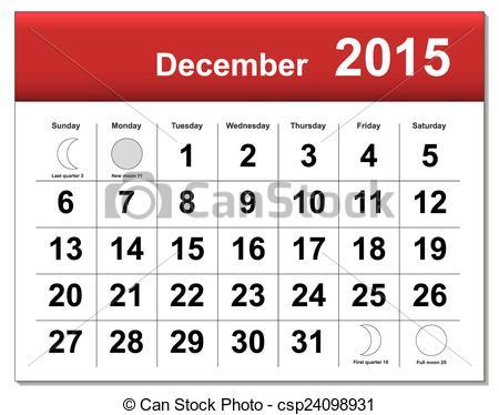 December date calendar clipart clip black and white download Clipart of a december 2015 calendar - ClipartFest clip black and white download