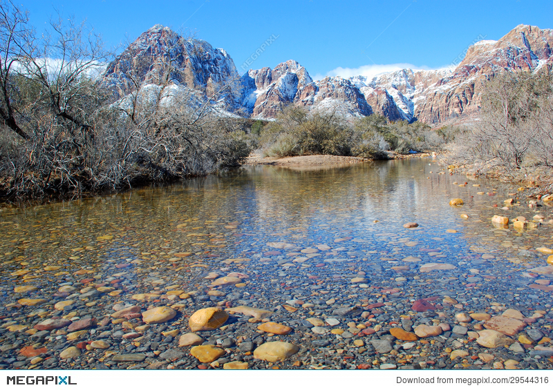 December in red rock canyon cliparts banner royalty free library Winter And Snow Melt Runoff In Red Rock Canyon Near Las Vegas ... banner royalty free library
