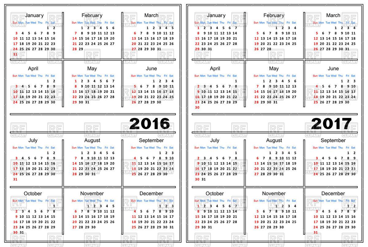December january calendar 2017 clipart clip royalty free download Clip Art Calendar Template December 2017 | Calendar Template clip royalty free download