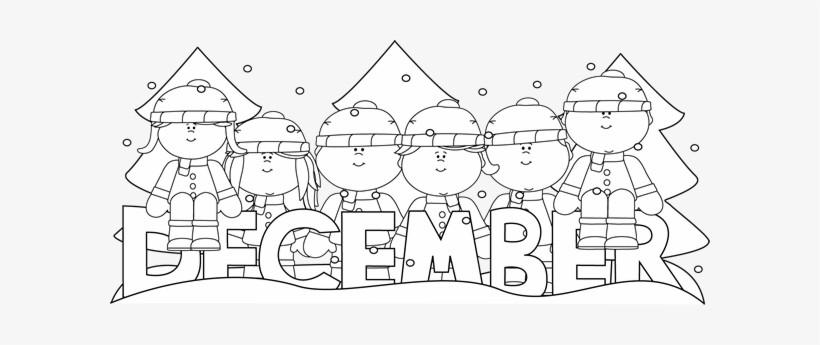 December month calendar clipart black and white jpg download January Clipart Black And White | gomediaction.net jpg download