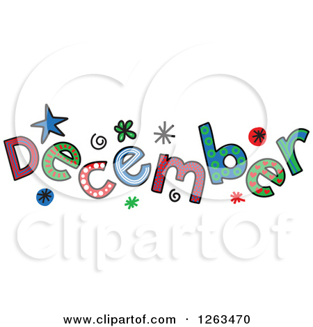 December month clip art picture black and white library Month of december clipart - ClipartFest picture black and white library