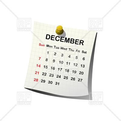December simple calendar clipart clipart black and white download 2014 paper calendar - December Vector Image #27909 – RFclipart clipart black and white download