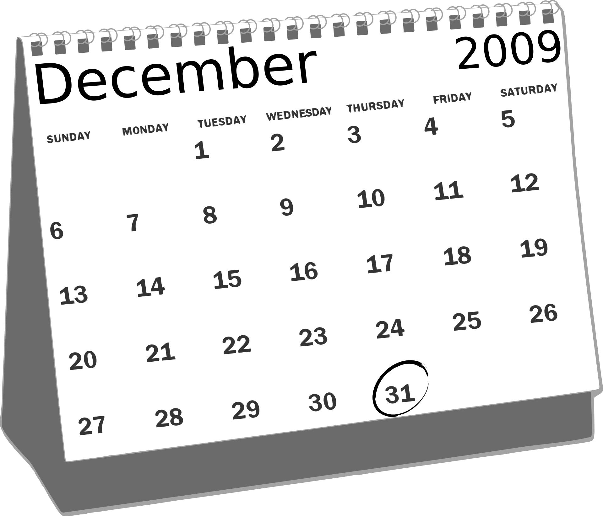 December simple calendar clipart clip art freeuse download December simple calendar clipart - ClipartFest clip art freeuse download