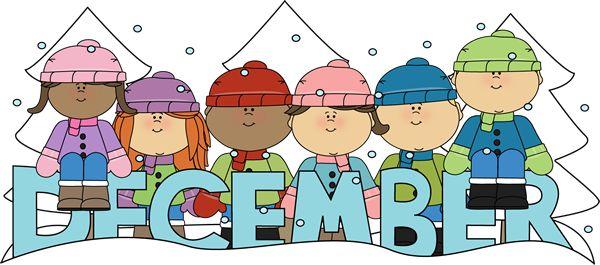 December simple calendar clipart graphic Month of December Winter kids | Clip Art-Months | Pinterest ... graphic