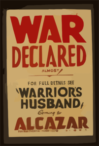 Declare war clipart png royalty free War Declared Almost! : For Full Details See Warrior S ... png royalty free