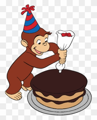 Decorated cake clipart banner transparent stock Curious George Decorated A Cake - Curious George Making Cake Clipart ... banner transparent stock