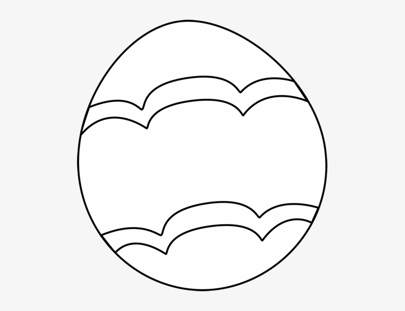 Decorated easter egg black and white clipart jpg freeuse download Black And White Decorated Easter - Black And White Easter Egg Clip ... jpg freeuse download