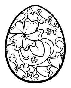 Decorated easter egg black and white clipart clip art transparent stock Easter Egg Clipart Black And White – HD Easter Images clip art transparent stock