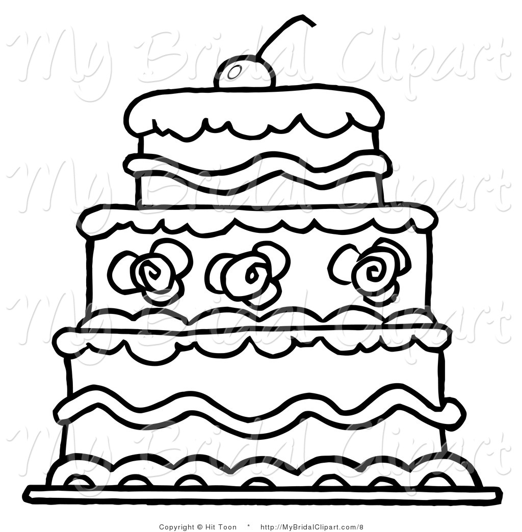 Two tiered cake clipart black clipart transparent download Birthday Cake Clipart Black And White | Free download best Birthday ... clipart transparent download
