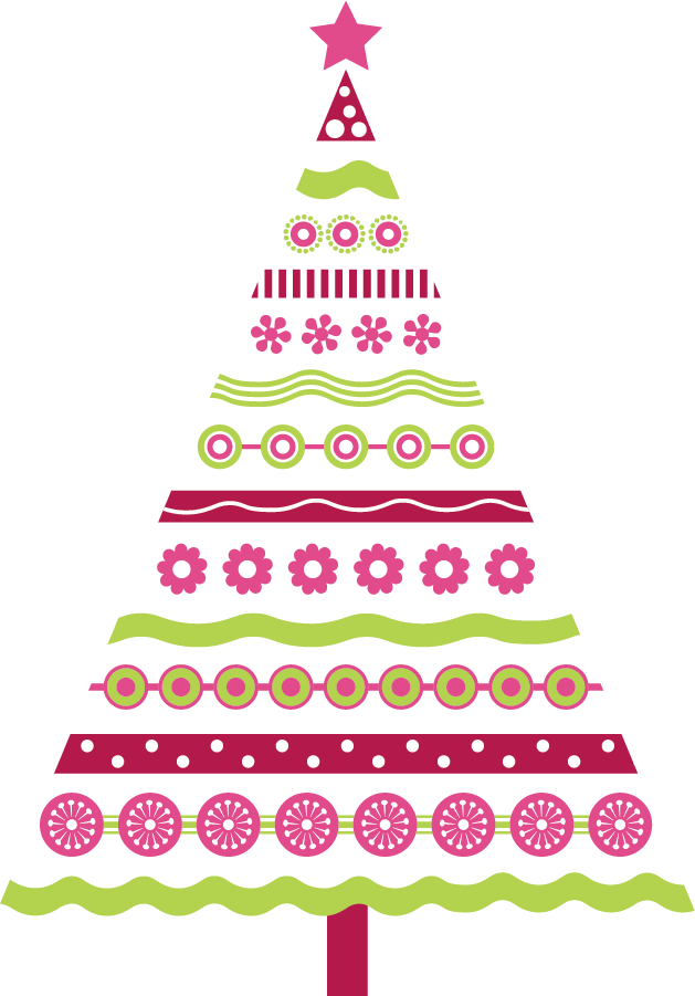 Hanging tree clipart image royalty free library Pink Christmas Tree Clipart | find craft ideas image royalty free library