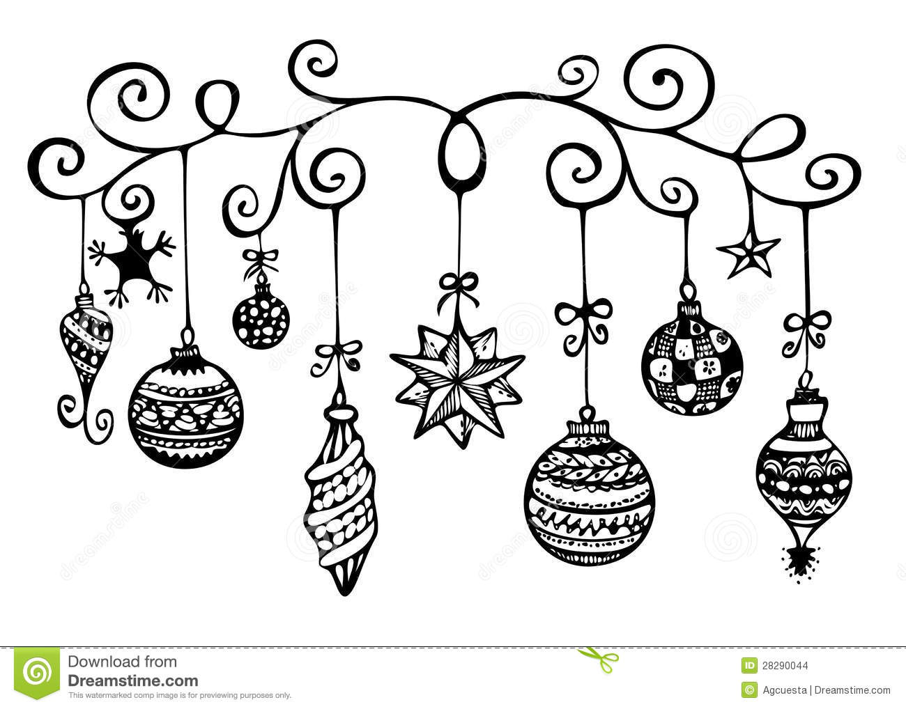Decoration clipart black and white free download Christmas decorations clipart black and white 3 » Clipart Station free download
