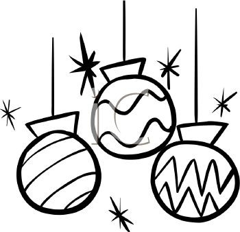 Decoration clipart black and white clip freeuse download Christmas Decoration Clipart Black And White | Furniture Walpaper clip freeuse download
