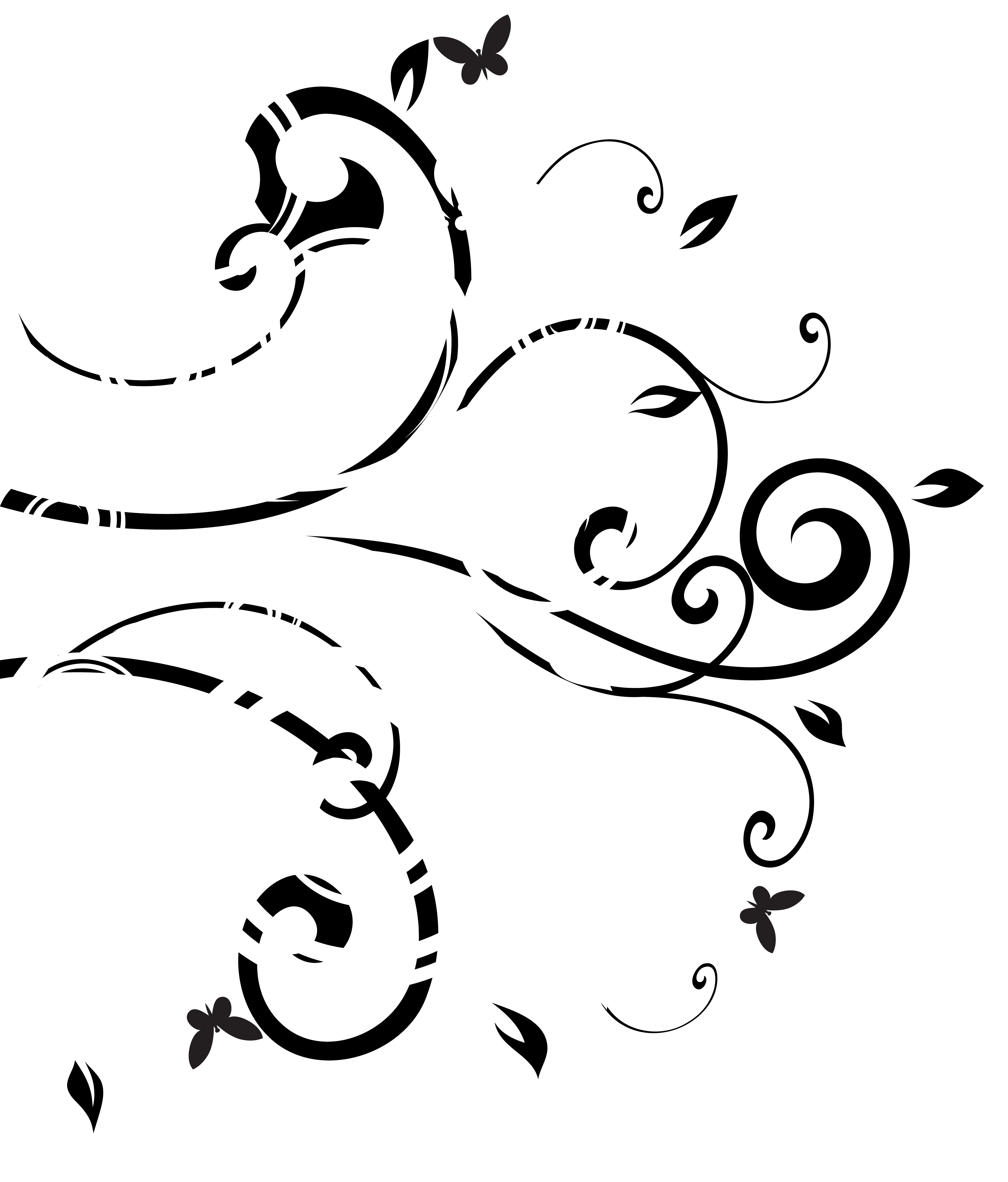 Decoration clipart black and white jpg freeuse library Black White Decor PNG Clip Art Image | Gallery Yopriceville - High ... jpg freeuse library