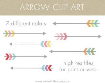 Etsy arrows digital. Decorative arrow clip art