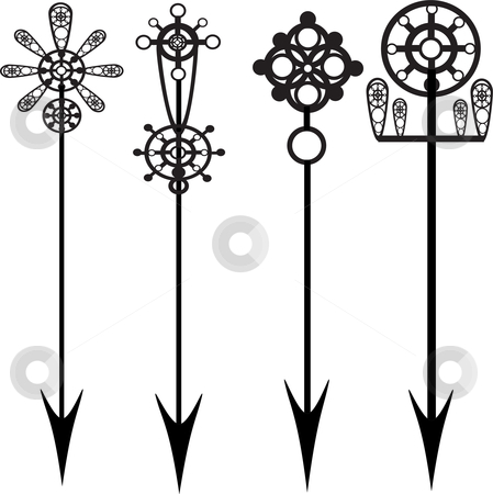 Decorative arrow clip art vector black and white Decorative Arrow Clipart vector black and white