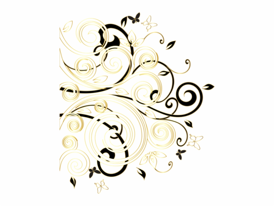 Decorative elegant vines and swirls with leaves clipart clipart royalty free download Download for free 10 PNG Deco clipart gold swirl Images With ... clipart royalty free download