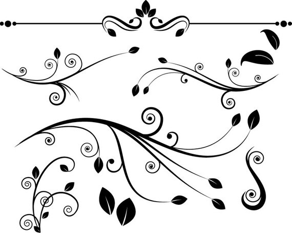 Decorative elegant vines and swirls with leaves clipart clip art library stock Decorative flourish clipart - flourishes clip art, swirls ... clip art library stock