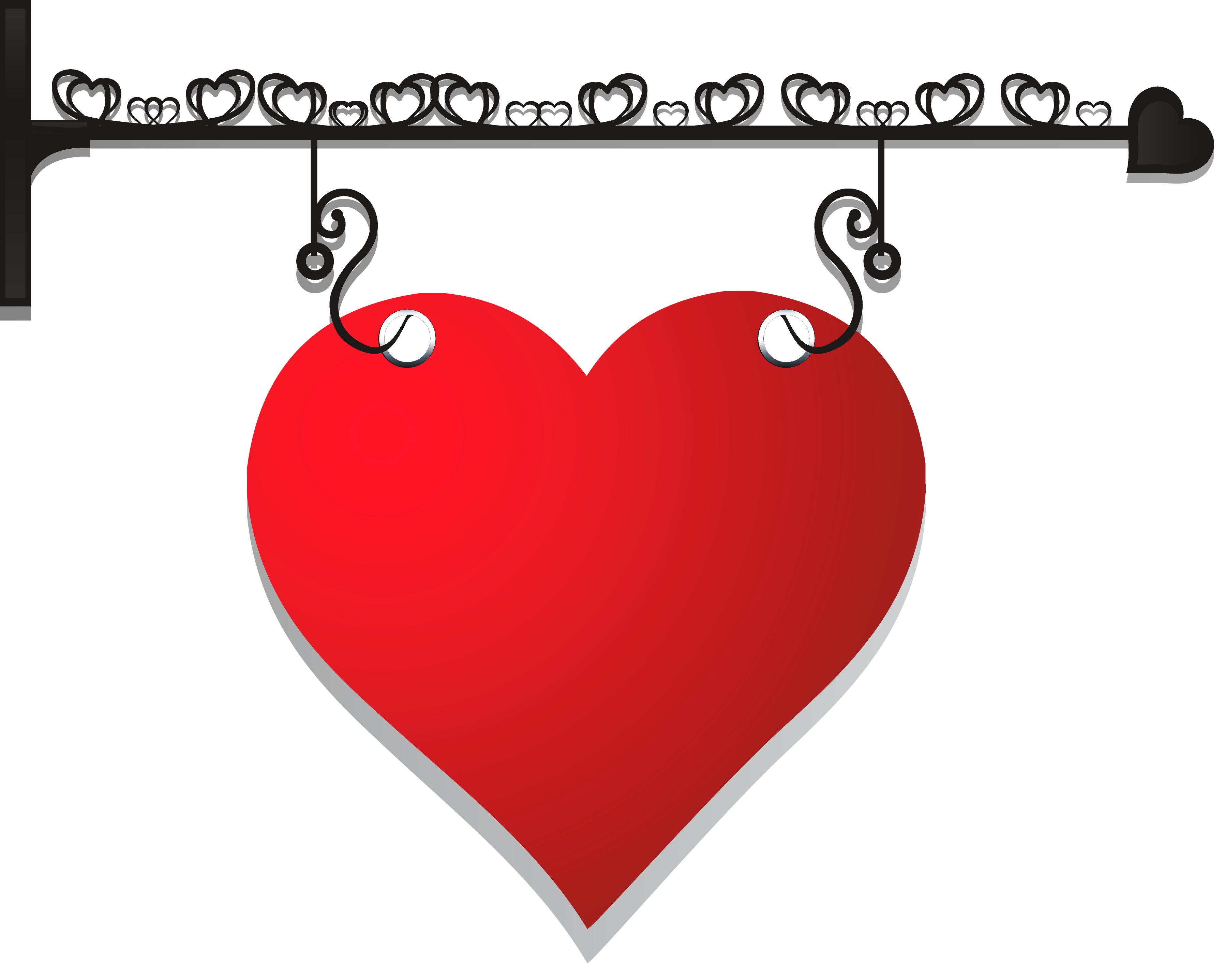 Hanger png picture gallery. Decorative heart clipart