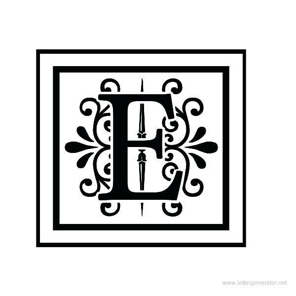 Decorative letter a decorative letter m free clipart picture free decorative letter e – cakestub picture free