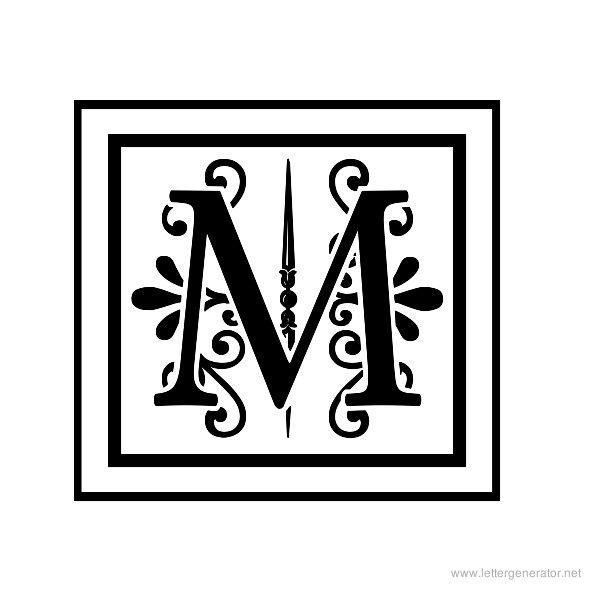 Decorative letter a decorative letter m free clipart banner free download Decorative Alphabet Gallery - Free Printable Alphabets | LETTER ... banner free download