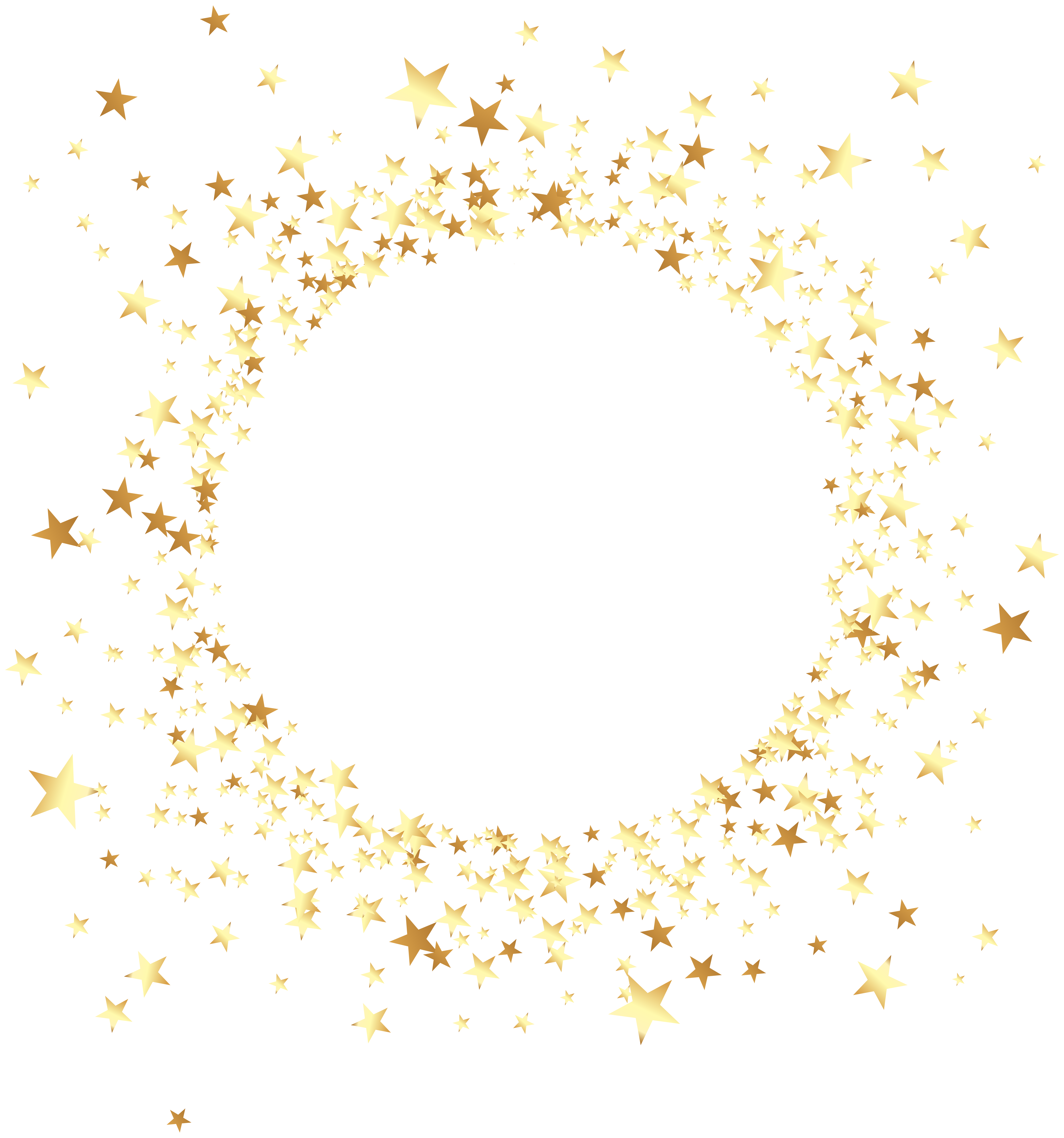 Decorative Round Element with Stars Transparent Clip Art | Gallery ... vector royalty free library