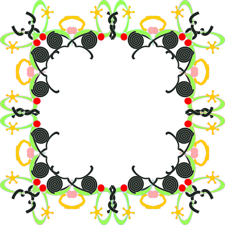 Decorative star clipart. Borders and frames picture