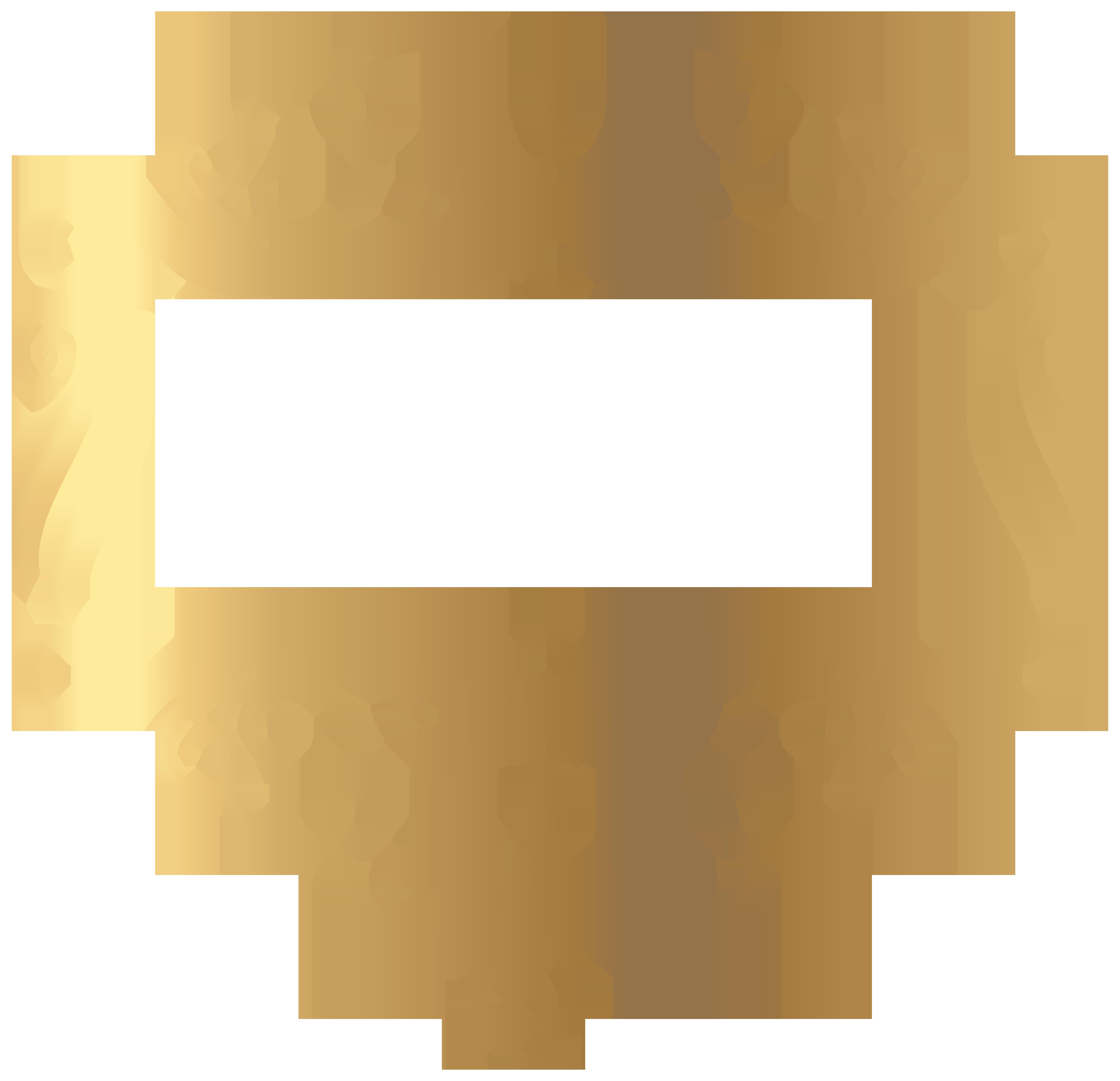 Decrotive clipart svg black and white download Gold Decoration PNG Transparent Clip Art Image   Gallery ... svg black and white download
