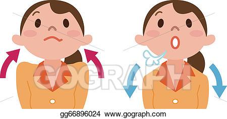 Deep breaths clipart clip art royalty free library Vector Clipart - Deep breathing. Vector Illustration gg66896024 ... clip art royalty free library