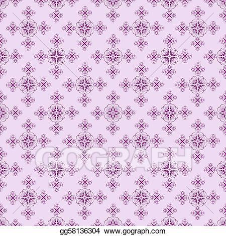 Deep purple clipart clip art free Stock Illustration - Deep purple on light purple damask seamless ... clip art free