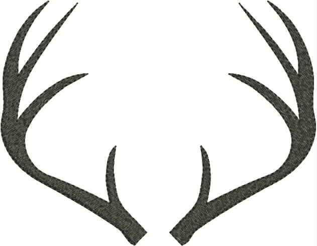Deer antlers clipart black and white svg freeuse download Antler Clip Art & Look At Clip Art Images - ClipartLook svg freeuse download