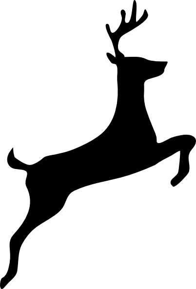 Black deer clipart svg freeuse Deer Black And White Clipart | Free download best Deer Black ... svg freeuse