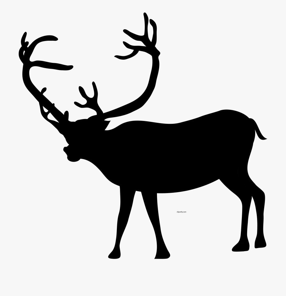 Deer clipart black clipart free stock Christmas Black Color Deer Clipart Png - Black Colored Deer ... clipart free stock