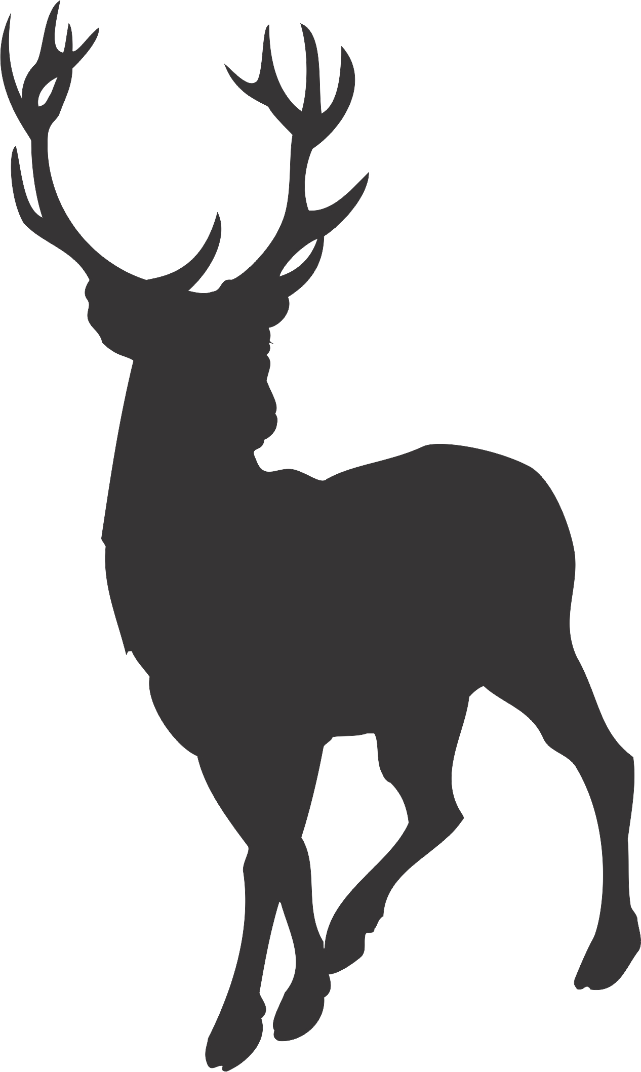Deer clipart silhouette image black and white library Free Free Deer Silhouette, Download Free Clip Art, Free Clip Art on ... image black and white library