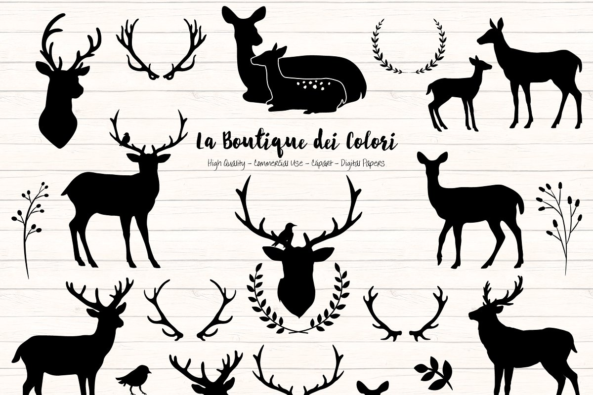 Deer clipart silhouette image free library Deer Silhouette Clipart image free library