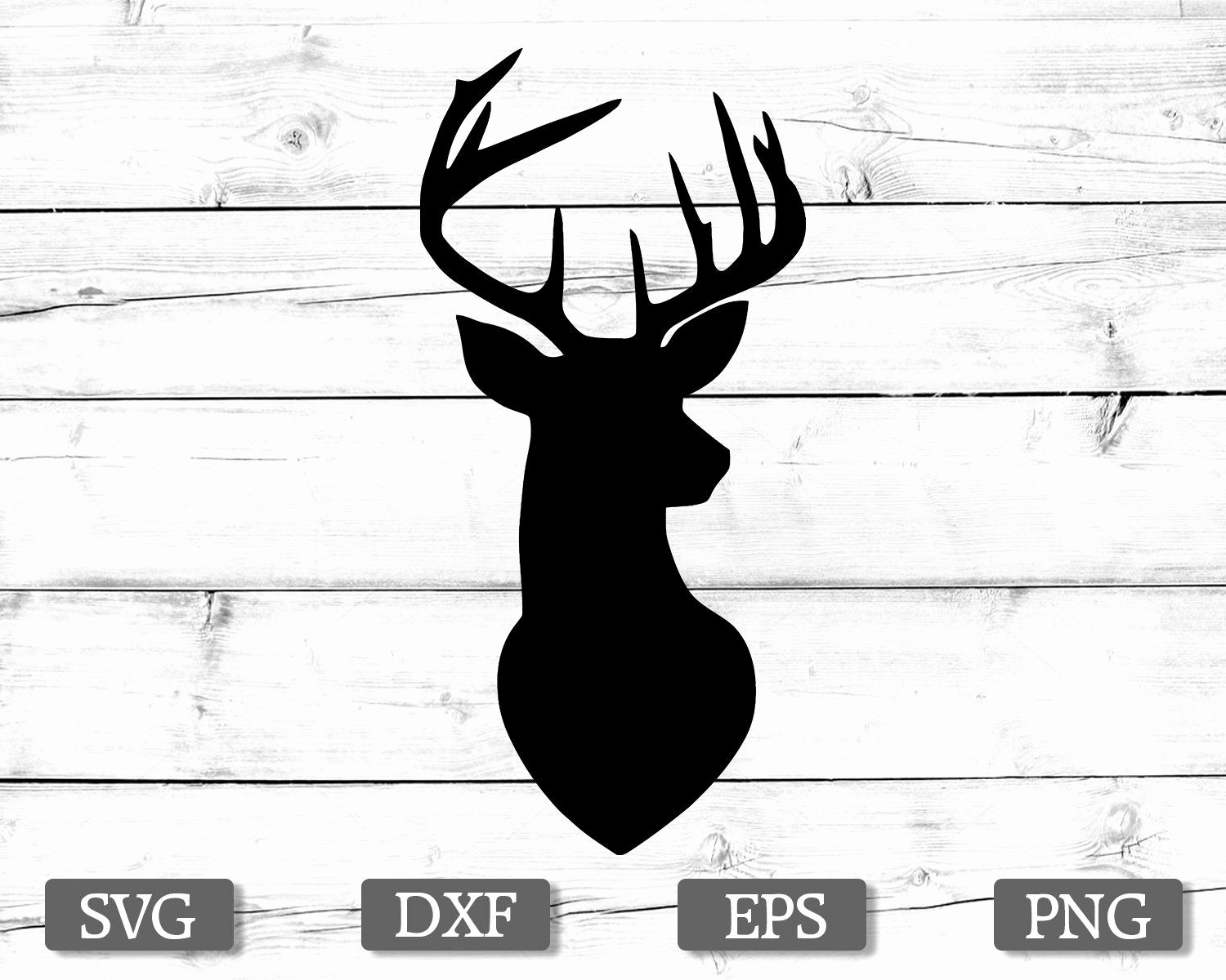 Deer clipart silhouette black and white stock Deer Silhouette Clip Art Inspirational Deer Svg Deer Head Svg Deer ... black and white stock